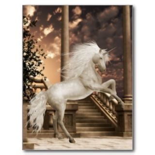 Unicorn Magical Beauty Postcard