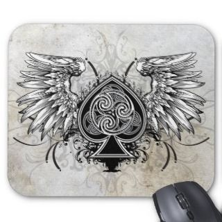 Winged Tattoo Urban Celtic Gaelic Knot Mousepad
