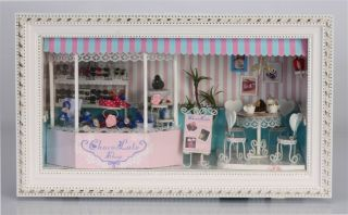 Puppenhaus Dollhouse Miniatur Chocolate Love DIY Spielzeug Puppenstube
