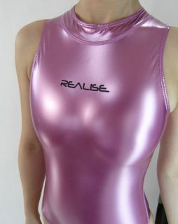 REALISE Japanese Shiny Rubber Swimsuit Glossy Purple XL   307