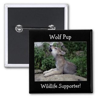 Timber Wolf Pup Grey Wolf Wild Animal Pins