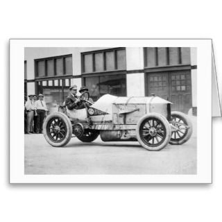 Antique Race Car, 1910s Card
