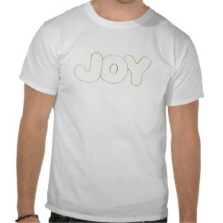 Outline Art   Joy   word in colors tshirt