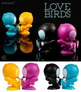 DESIGN TOY LOVE BIRDS 5/13cm BLUE TEAL Vers. by KRONK KIDROBOT Love