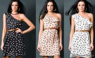 Longtop Minikleid Sommerkleid Style Partykleid Sexy Tunika Dots Kleid