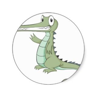 Joyful Gharial Gavial Crocodile Sticker