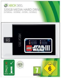 Xbox 360 Festplatte 320 GB HD inkl Lego Star Wars III code NEU