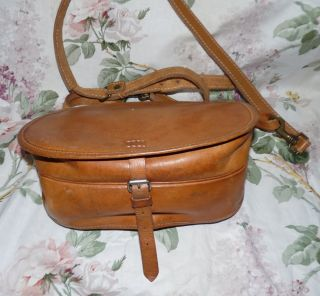 Vintage Leder Tasche Cross Body Saddle Leather BAG Echtleder