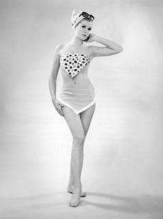 Woman in Swimsuit Photographic Print by George Marks