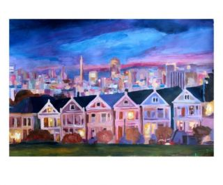 San Francisco   Painted Ladies   Alamo Sq Premium Giclee Print by Markus Bleichner