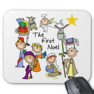 The First Noel Christmas Gift Mouse Pad