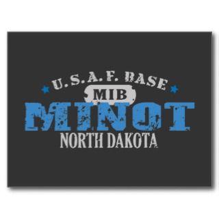 Air Force Base   Minot, North Dakota Post Card