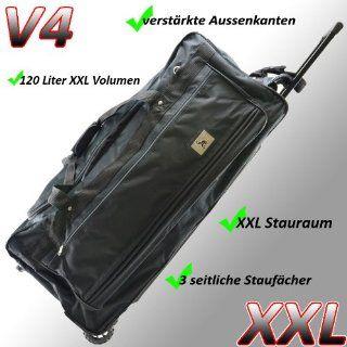 Reisetasche Jumbo Big Travel 3 Rollen riesige 120L XXL V4 4