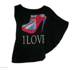 Damen T Shirt Rundhals mit Fledermausärmel BIG SHOE 331