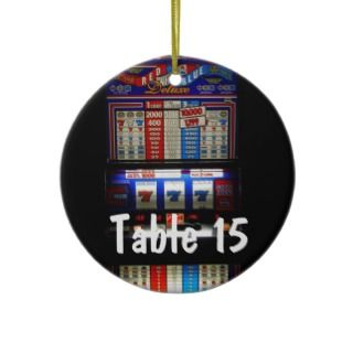 Las Vegas Casino Theme Table Number Ornament
