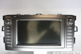 Toyota Auris Radio Navi Navigation Touchscreen 86113 60v430