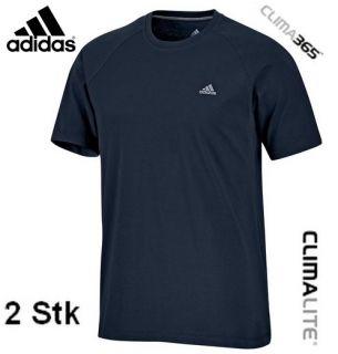 STK Adidas Ess Crew Tee Herren T Shirt [M] 50 dark navy blau Hose