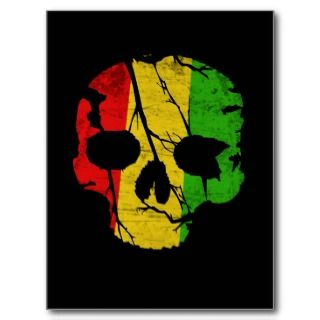 Colorful Skull Postcard