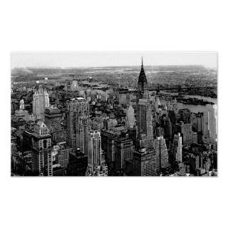 Black & White New York City   Manhattan Skyscrapers Digital Art Image