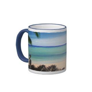Caribbean Aquamrine blue ocean island coffee mug