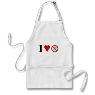 Heart No Smoking Apron