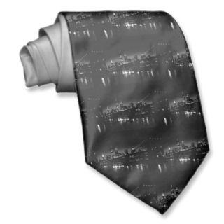 BW New York City at Night Neck Tie