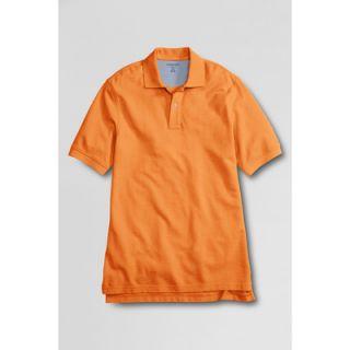 LANDS END Herren Piqué Polo Shirt Herrenshirt Freizeitshirt orange