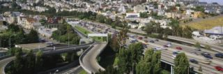 Traffic on the Highway, Highway 101, Potrero Hill, San Francisco, California, USA Photographic Print by Panoramic Images