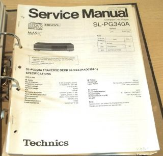 Technics SL PG 340 A / CD Player Service Manual