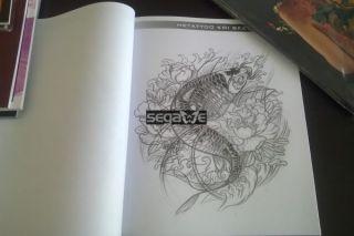 HE Magazin Tattoo Flash BOOK KOI Skizzenbuch V CHINA A4