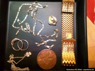 Konvolut Altgold, Schmelzgold, Silber, Armband. Kette, Ringe,Gold