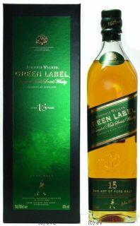 Johnnie Walker Green Label 15 Years   Jahre 0,7 Ltr 43%