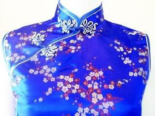 Asia Qipao/Cheongsam Geisha China/Japan Kleid/Kostüm Fasching/Gothic
