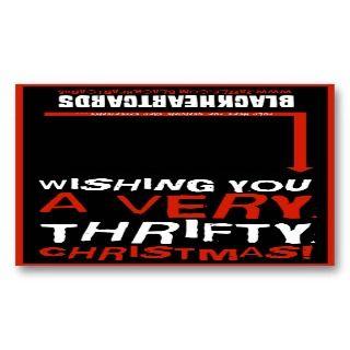 Tiny Christmas card   Thrifty Christmas Business Card Template