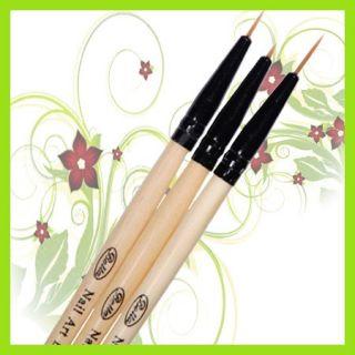 KT346 Nail Art Acryl Pinsel Brush Bürste 3Stk. Set