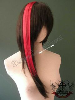 PUNK ROCK VISUAL KEI CYBER RAVER HAIR EXTENSION 15 RED