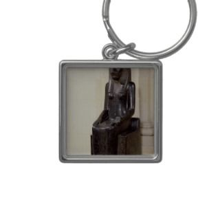 Statue of the lion headed goddess Sekhmet Key Chain