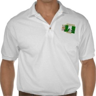 Nigerian ball for Nigerian soccer players Polo Shirts