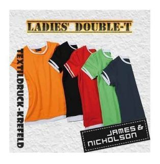 Ladies Double T James & Nicholson JN363 versch. Farben