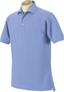 Harvard Square Mens Five Star Performance Piqué Polo Sport Shirt