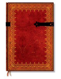 Paperblanks Gästebuch Hochzeitsbuch Buch rot gold blanko LARP Gothic