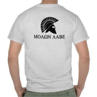 Molon Labe Spartan t shirt