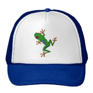Red eye Tree frog Trucker Hats