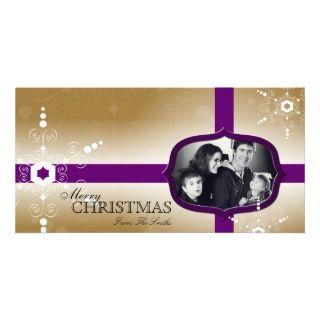 Merry Christmas Family Photo Card   Snowflakes