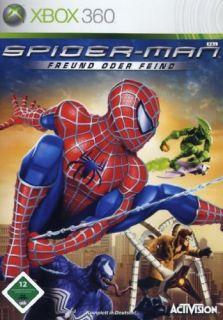 Microsoft Xbox 360 Spider Man   Freund oder Feind   Spiderman Marvel