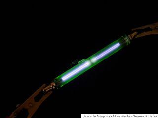 Glimmlampe Argon glow lamp Ar Uranglas uranium glass