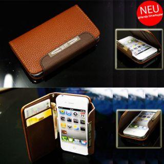 4S Portmonee Portemonnaie Echtes Leder Tasche Huelle Wallet Case 371
