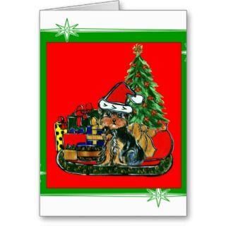 Christmas Yorkie Poo Greeting Card