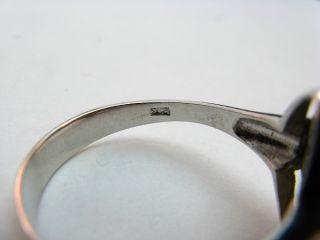 R376 585er 14kt Weißgold Ring mit Opal Triplette, Brillanten Brillant