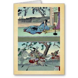 51 Kogo no Tsubone ; 52 Tomoe Gozen Ukiyoe Card